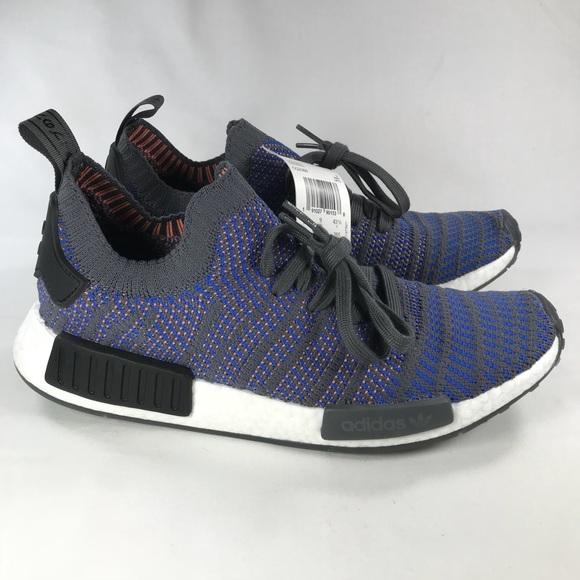 on sale 16895 07526 Adidas NMD STLT R1 Blue Grey Men's Size 9.5 NWT